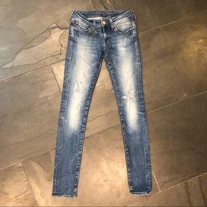 Mavi Serena Super Skinny Distressed Jeans EUC